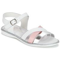 kengät Tytöt Sandaalit ja avokkaat Citrouille et Compagnie IZOEGL White / Pink / Hopea