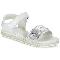 kengät Tytöt Sandaalit ja avokkaat Citrouille et Compagnie ILEVANDOK White / Hopea