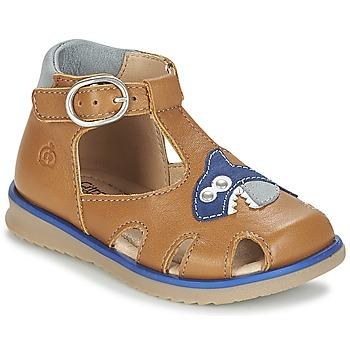 kengät Pojat Sandaalit ja avokkaat Citrouille et Compagnie ISKILANDRO Brown / Blue