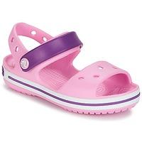 kengät Tytöt Sandaalit ja avokkaat Crocs Crocband Sandal Kids Pinkki / Purple
