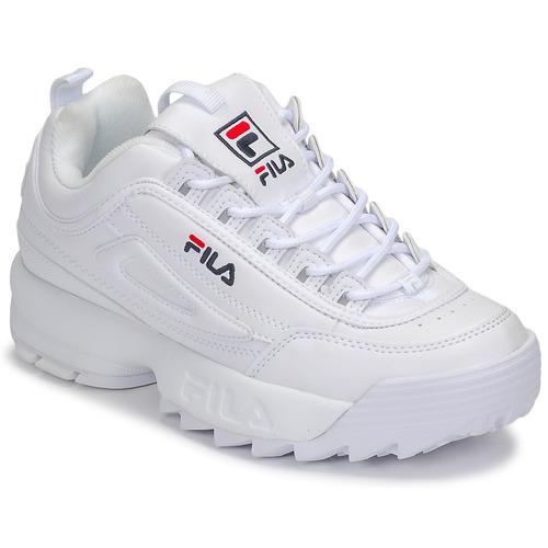 kengät Naiset Matalavartiset tennarit Fila DISRUPTOR LOW WMN White