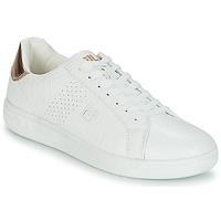 kengät Naiset Matalavartiset tennarit Fila CROSSCOURT 2 F LOW WMN White / Pink / Kulta