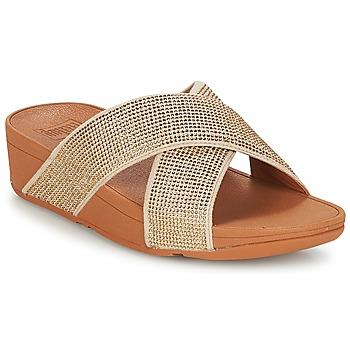kengät Naiset Sandaalit FitFlop CRYSTAL II SLIDE SANDALS Gold