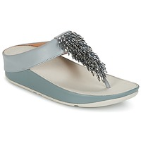 kengät Naiset Varvassandaalit FitFlop CHA-CHA TOE-THONG SANDALS CRYSTAL Blue