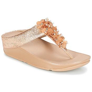 kengät Naiset Varvassandaalit FitFlop BOOGALOO TOE POST Pink / Kulta
