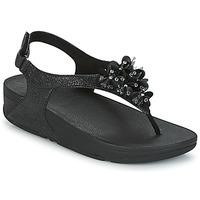 kengät Naiset Sandaalit ja avokkaat FitFlop BOOGALOO BACK STRAP SANDAL Black