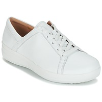kengät Naiset Matalavartiset tennarit FitFlop F-SPORTY II LACE UP SNEAKERS White