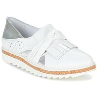 kengät Naiset Mokkasiinit Regard RASTAFA White / Hopea