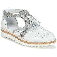 kengät Naiset Derby-kengät Regard RASTANU White / Hopea