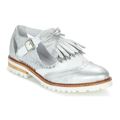 kengät Naiset Derby-kengät Regard RETAZO White / Hopea