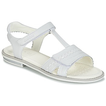 kengät Tytöt Sandaalit ja avokkaat Geox J S.GIGLIO A White