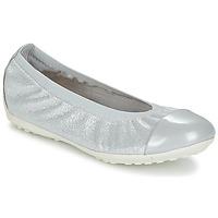 kengät Tytöt Balleriinat Geox J PIUMA BAL A Grey / Silver