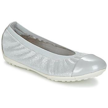 kengät Tytöt Balleriinat Geox J PIUMA BAL A Grey / Hopea