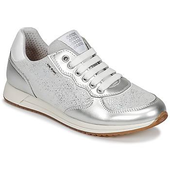 kengät Tytöt Matalavartiset tennarit Geox J JENSEA G. D Grey / Silver
