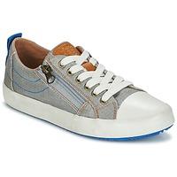 kengät Pojat Matalavartiset tennarit Geox J ALONISSO B. D Grey / Blue