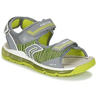 kengät Pojat Urheilusandaalit Geox J S.ANDROID B.A Grey / Green