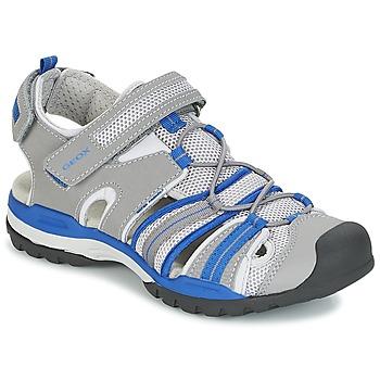 kengät Pojat Urheilusandaalit Geox J BOREALIS B. C Grey / Blue