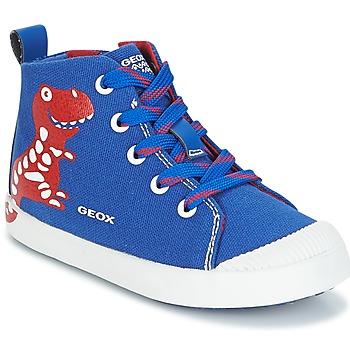 kengät Pojat Korkeavartiset tennarit Geox B KILWI B. F Blue / Red