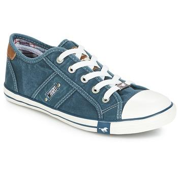 kengät Naiset Matalavartiset tennarit Mustang RUGARL Blue