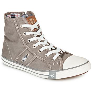 kengät Naiset Korkeavartiset tennarit Mustang GALLEGO Grey / Silver