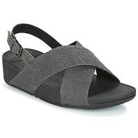 kengät Naiset Sandaalit ja avokkaat FitFlop LULU CROSS BACK-STRAP SANDALS Musta