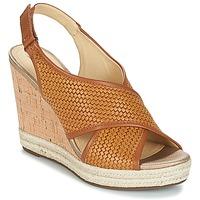kengät Naiset Sandaalit ja avokkaat Geox JANIRA C Brown