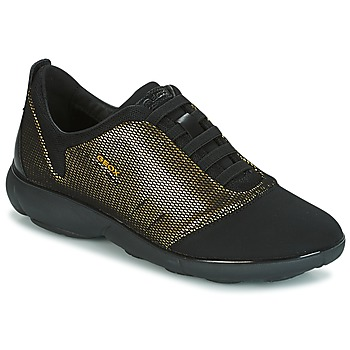 kengät Naiset Matalavartiset tennarit Geox D NEBULA C Gold / Black