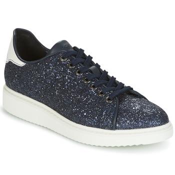 kengät Naiset Matalavartiset tennarit Geox D THYMAR C Sininen / Valkoinen