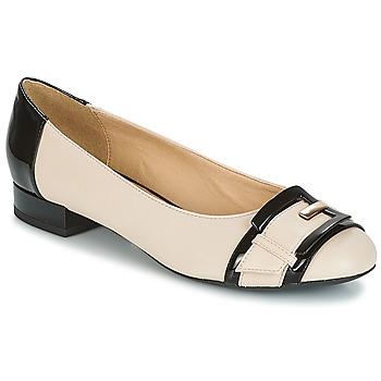 kengät Naiset Balleriinat Geox WISTREY E Beige