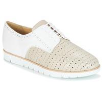 kengät Naiset Derby-kengät Geox KOOKEAN Taupe / White