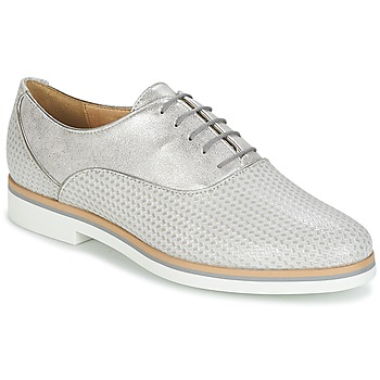 kengät Naiset Derby-kengät Geox JANALEE A Grey / White