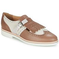 kengät Naiset Derby-kengät Geox JANALEE B Hiekka / White