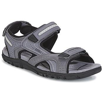kengät Miehet Urheilusandaalit Geox S.STRADA D Grey