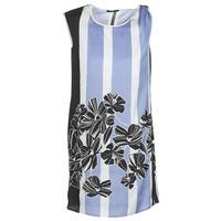 vaatteet Naiset Lyhyt mekko Sisley LAPOLLA Sininen / Valkoinen / Musta