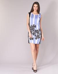 vaatteet Naiset Lyhyt mekko Sisley LAPOLLA Blue / White / Black