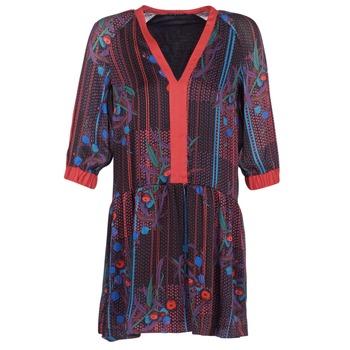 vaatteet Naiset Lyhyt mekko Sisley CEPAME Musta / Punainen / Sininen