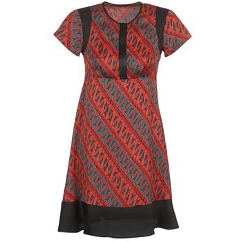 vaatteet Naiset Lyhyt mekko Sisley ZEBRIOLO Red / Black