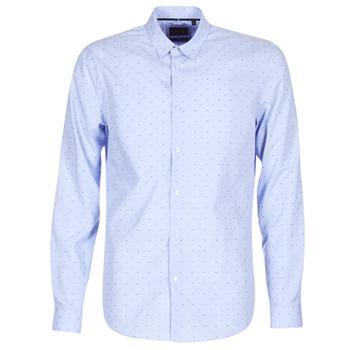vaatteet Miehet Pitkähihainen paitapusero Sisley KELAPSET Blue / Clair