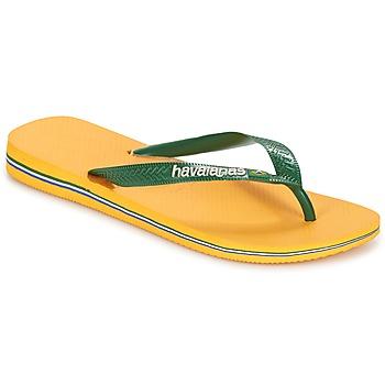 kengät Varvassandaalit Havaianas BRAZIL LOGO Yellow