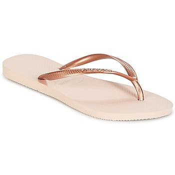 kengät Tytöt Varvassandaalit Havaianas SLIM Pink / Gold