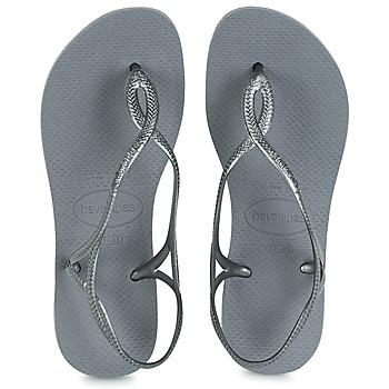 kengät Naiset Varvassandaalit Havaianas LUNA Hopea