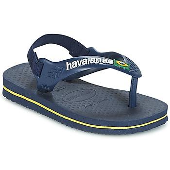 kengät Pojat Varvassandaalit Havaianas BABY BRASIL LOGO Laivastonsininen / Yellow