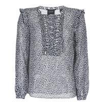 vaatteet Naiset Topit / Puserot Maison Scotch OLZAKD Musta / Valkoinen