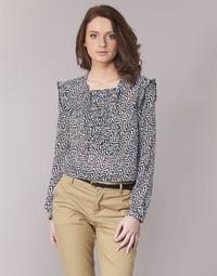 vaatteet Naiset Topit / Puserot Maison Scotch OLZAKD Black / White