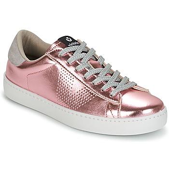 kengät Naiset Matalavartiset tennarit Victoria DEPORTIVO METALIZADO Pink