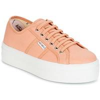 kengät Naiset Matalavartiset tennarit Victoria BLUCHER LONA PLATAFORMA Pink / Beige