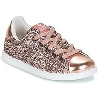 kengät Tytöt Matalavartiset tennarit Victoria DEPORTIVO GLITTER KID Pink