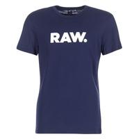 vaatteet Miehet Lyhythihainen t-paita G-Star Raw HOLORN R T S/S Laivastonsininen