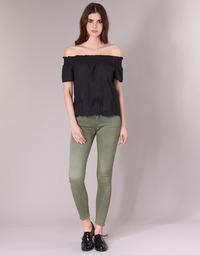 vaatteet Naiset 5-taskuiset housut G-Star Raw D-STAQ 5-PKT MID SKINNY COJ WMN vihreä