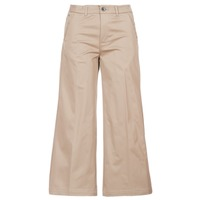 vaatteet Naiset Chino-housut / Porkkanahousut G-Star Raw BRONSON HIGH LOOSE CHINO 7/8 WMN Beige